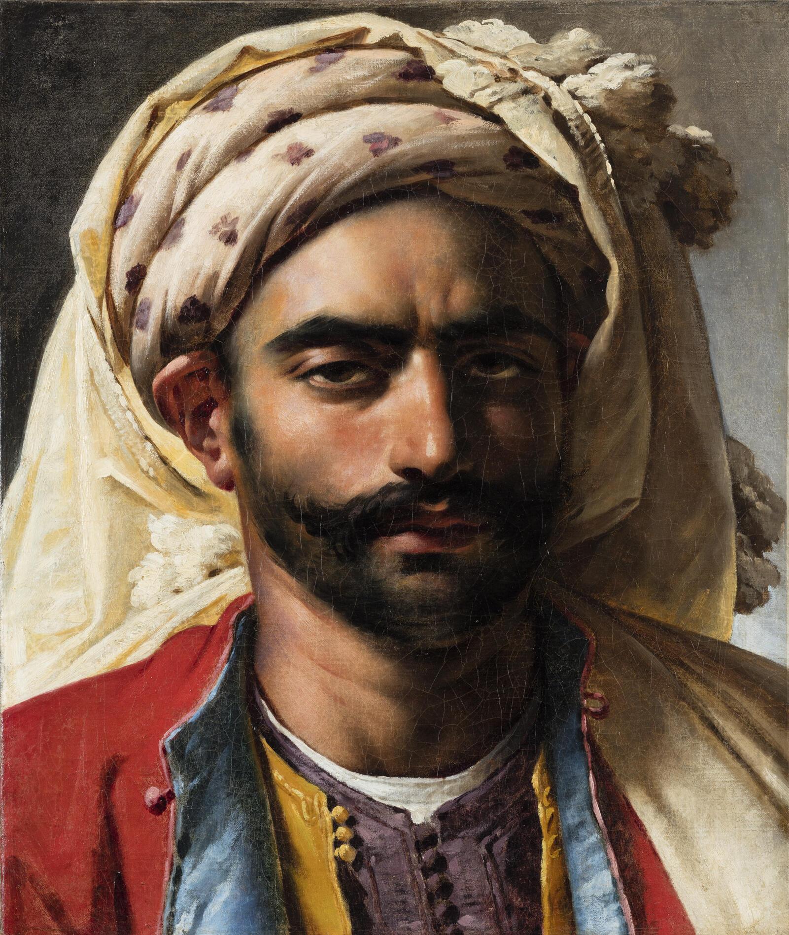 Retrato de Mustapha, pintado por Girodet en 1819.