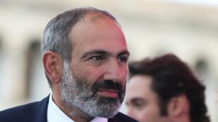 Le nouveau Premier ministre arménien, Nikol Pachinian le 8 mai 2018.