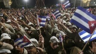 El pueblo cubano despide a Fidel Castro, este 29 de noviembre en la Plaza de la Revolución, en La Habana.