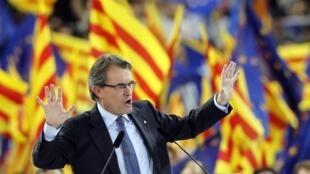 Artur Mas à Barcelone, le 23 novembre 2012.