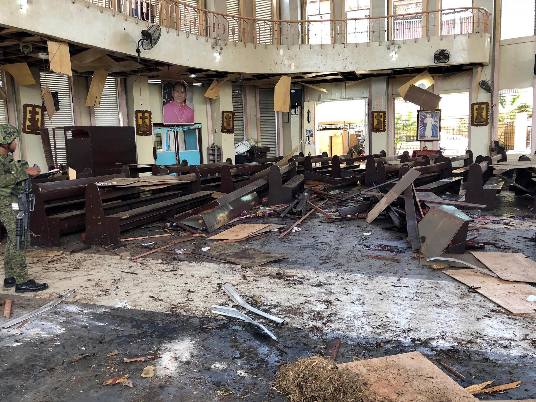 霍洛市一座教堂在進行彌撒時發生爆炸