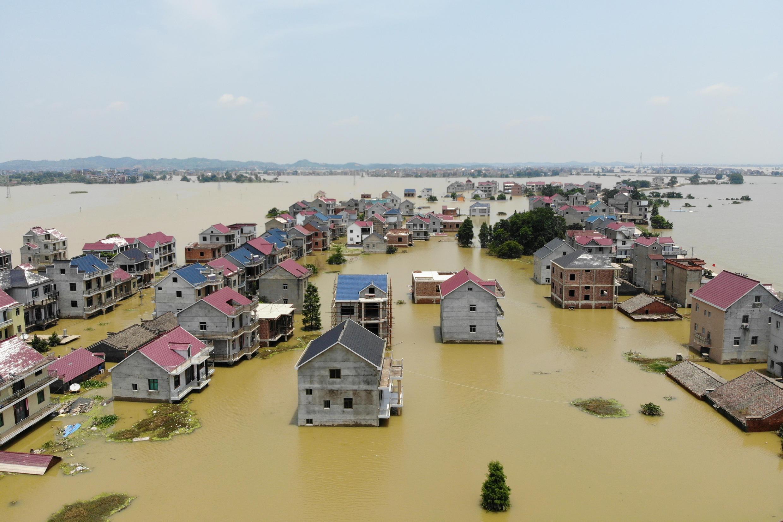 7月17日洪灾中江西受灾地区资料图片