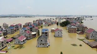 7月17日洪災中江西受災地區資料圖片