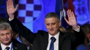 Tomislav Karamarko, presidente da União Democrática Croata.