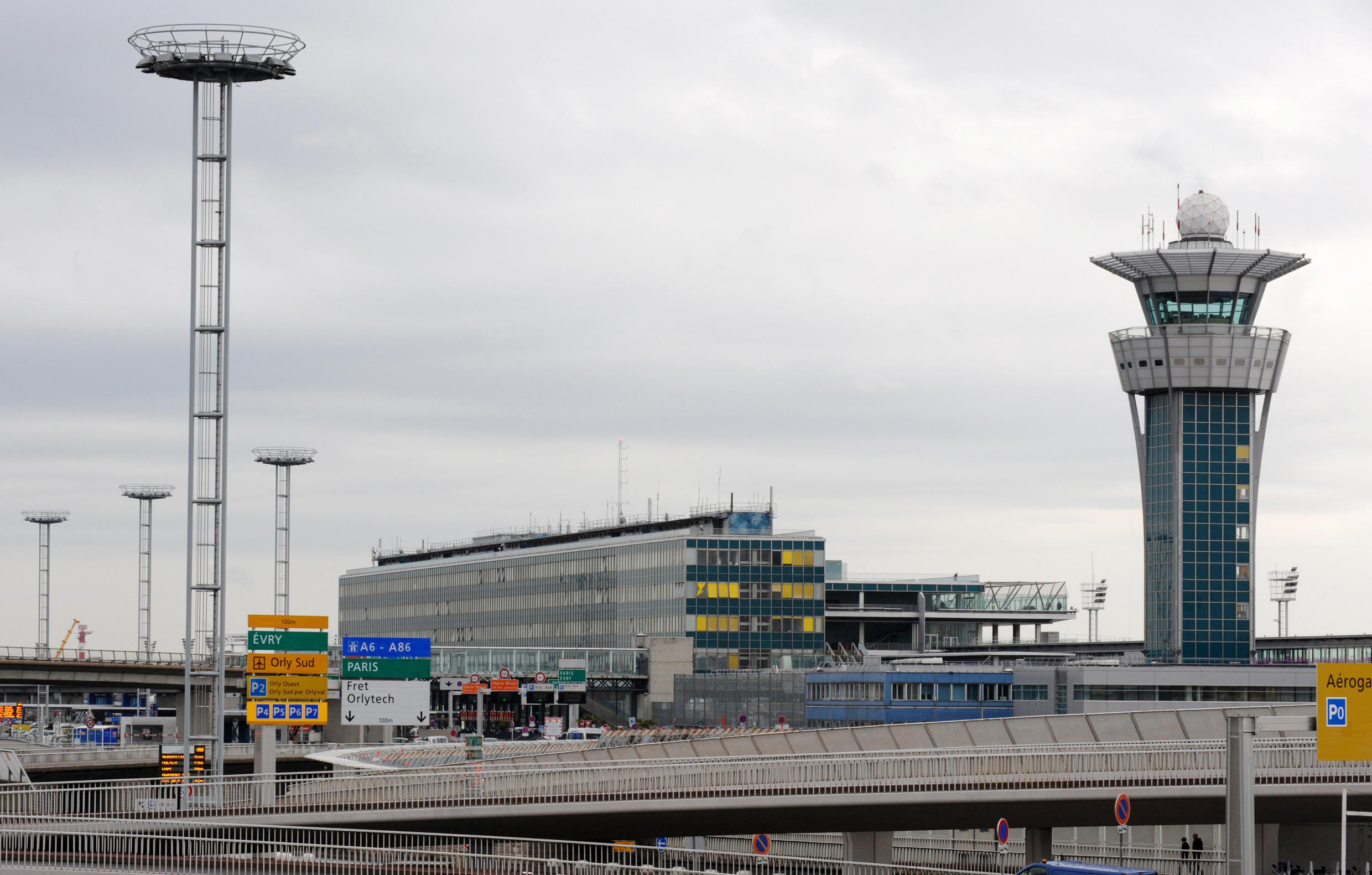 Control tower, Paris-Orly Sud airport, south of Paris