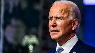 El presidente electo de Estados Unidos Joe Biden durante un anuncio de gabinete en Wilmington, Delaware, el 24 de noviembre de 2020.