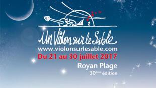 Affiche du festival «Un violon sur le sable» à Royan.