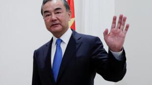 Le chef de la diplomatie chinois, Wang Yi, le 25 août 2020 à Rome, en Italie.
