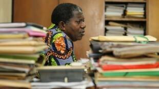 Sylvain Miaka Ouretto, le président par intérim du FPI, le parti de l'ancien dirigeant de la Côte d'Ivoire, Laurent Gbagbo.
