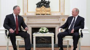 Президент Молдовы Игорь Додон на встрече с Владимиром Путиным в Кремле, 14 июля 2018