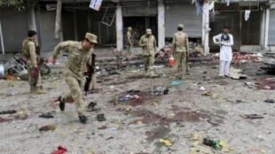 محل انفجار امروز در شهر جلال آباد