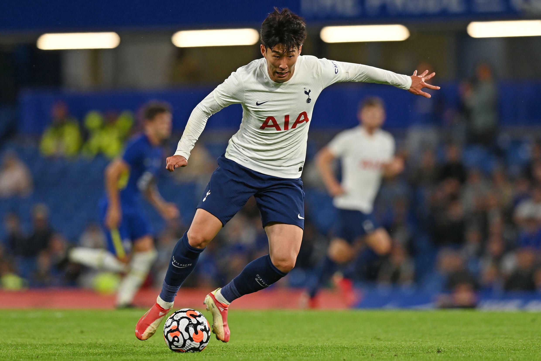Le Sud-Coréen Son Heung-Min avec Tottenham contre Chelsea en amical à Stamford Bridge, le 4 août 2021