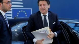 Le président du Conseil italien Giuseppe Conte à Bruxelles le 22 mai 2020.
