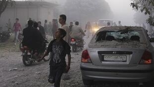 Syrian jets bombarded Sunni Muslim regions in Damascus and across the country on Sunday