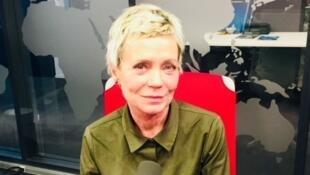 L'écrivaine Pia Petersen en studio à RFI (mars 2019).