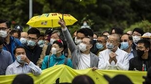 Hongkong - manifestants mobilisés photo prise au 14 mars 2020