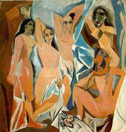 دوشیزگان آوینیون، اثر پابلو پیکاسو Les Demoiselles d'Avignon 1907