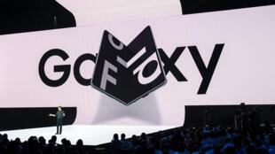 El Samsung Galaxy Fold fue presentado en San Francisco en febrero de 2019.