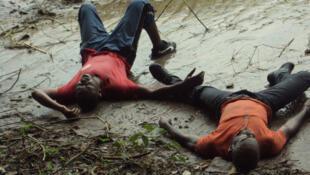 """""""Shéda"""", texte et mise en scène de Dieudonné Niangouna. Du 7 au 15 juillet au Festival d'Avignon. La photo a été prise lors des répétitions à Brazzaville, en janvier 2013."""