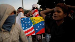 Biểu tình chống tổng thống Venezuela Maduro tại Caracas, Venezuela, ngày 02/02/2019.
