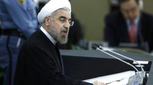 Rais wa Iran Hassan Rouhan