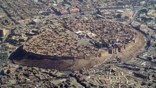 Aerial view of the Citadel of Erbil
