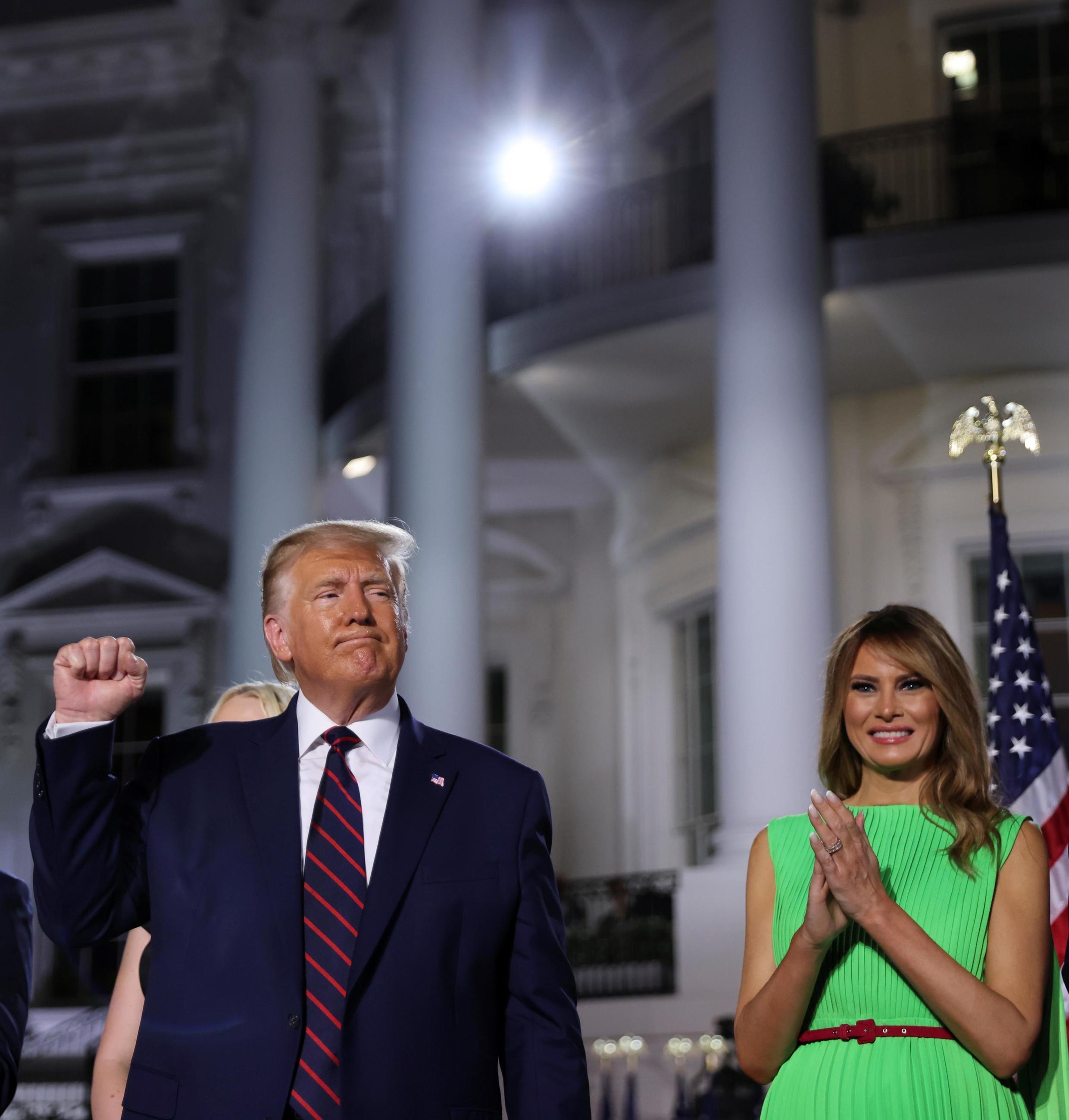 Donald Trump ameridhia uteuzi wa chama cha Republican kwa kuwania katika uchaguzi wa urais katika hotuba alitoa Ikulu ya White Agosti 27, 2020.