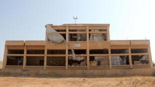Um dos prédios da Academia militar de Aleppo, tomada neste sábado 6 de agosto de 2016, pelos rebeldes.