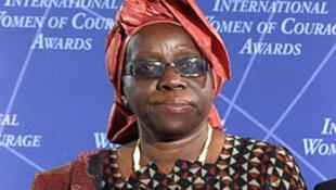 Henriette Ekwe, lauréate du prix du Courage féminin, à Washington, le 8 mars 2011.