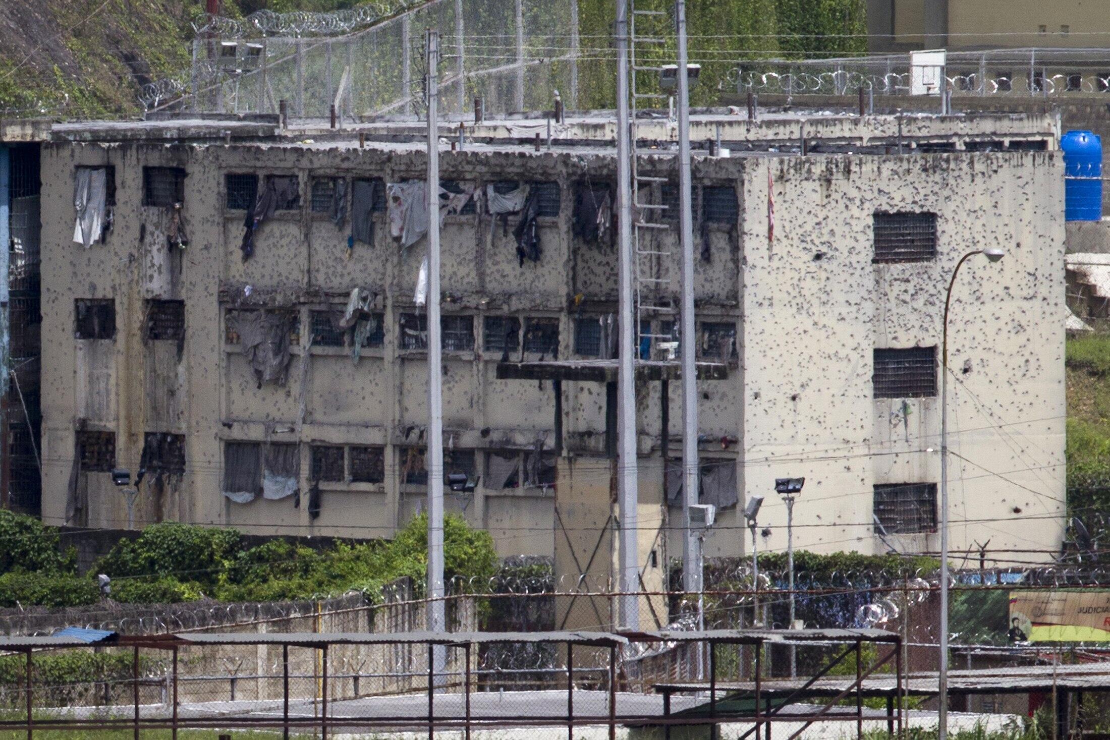 La cárcel de El Rodeo tras la intervención del Ejército, el 19 de junio de 2011.