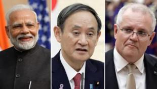 印度、日本、澳大利亞領導人資料圖片
