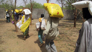 Wasu daga cikin 'yan gudun hijirar Boko Haram