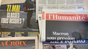 Macron suscita interrogações sobre mensagem e Trump penaliza OMS