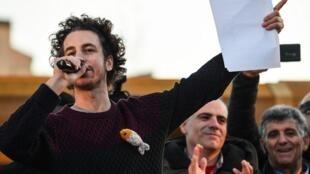 Mattia Santori, un des fondateurs du mouvement des «Sardines».