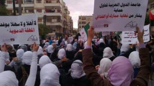 ادامه تظاهرات در شهر حمص، دوشنبه 31 اکتبر 2011