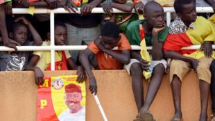 Des supporters du candidat Ibrahim Yacouba lors d'un meeting à Niamey, le 19 février 2016.
