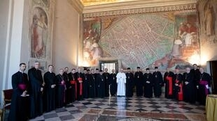 Папа Франциск с представителями Украинской греко-католической церкви в Ватикане, 5 июля 2019