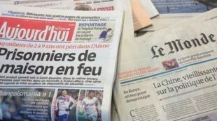 Primeiras páginas diários franceses 1/4/2013