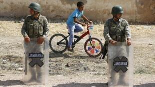 سربازان ترک در مرز سوریه