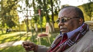 L'ancien gouverneur du Katanga, Gabriel Kyungu wa Kumwanza, président de l'UNAFEC (l'Union nationale des fédéralistes du Congo), le 23 mai 2016 à Lumumbashi, dans le sud de la RDC.