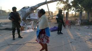 墨西哥地震 部长直升机坠地13人死亡2018年2月17日瓦哈卡州