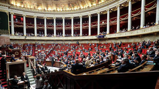 France's National Assembly as seen on the day PM Edouard Phliippe imposed the decree, 29 February 2020.