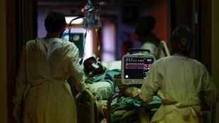 French medical officials warned Monday the number of intensive care beds for Covid-19 patients in and around Marseille had more than doubled in a week and were nearing full capacity.