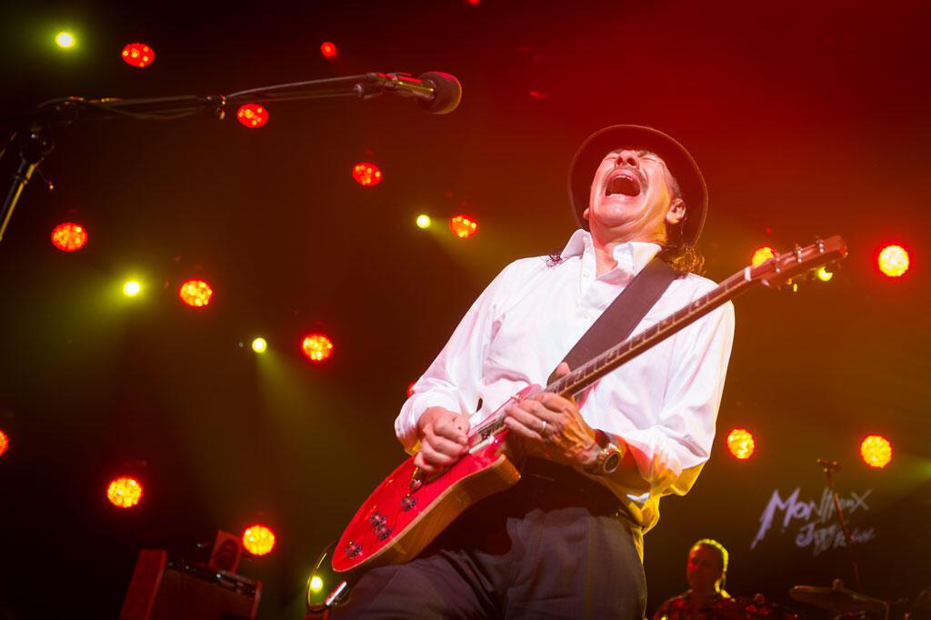 Carlos Santana, le 14 juillet 2015 à Montreux.