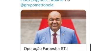 Notícia da captura de Adailton Maturino dos Santos foi divulgada também pela rede Twitter.