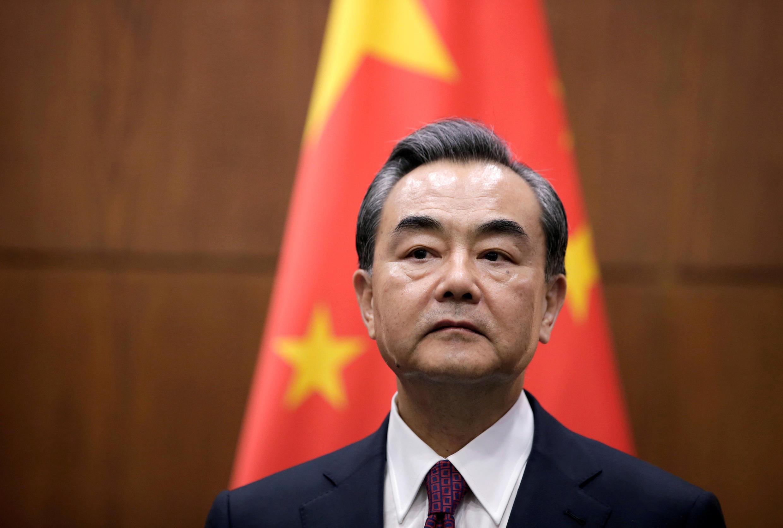 圖為中國外長王毅 王毅批評台灣搞小動作