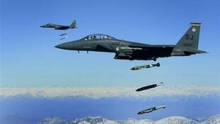 جنگنده های ائتلاف عرب به رهبری عربستان سعودی در آسمان یمن.
