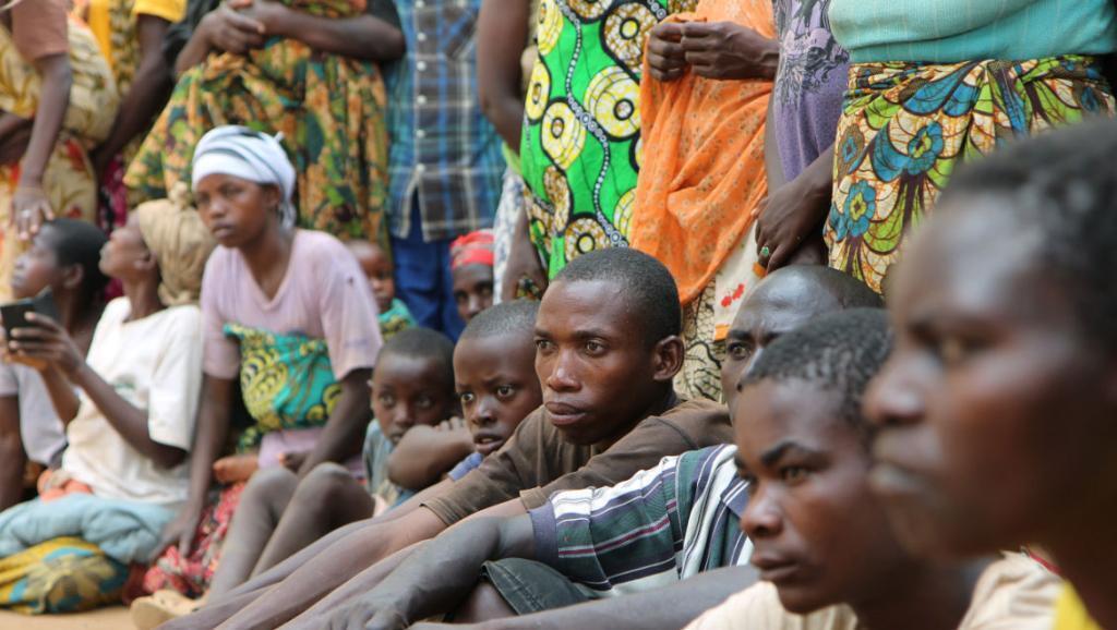 Wakimbizi wa Burundi waliopigwa picha Aprili 10, 2015 Rwanda.