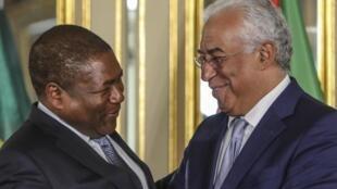 Filipe Nyusi, presidente de Moçambique, e António Costa, primeiro-ministro de Portugal
