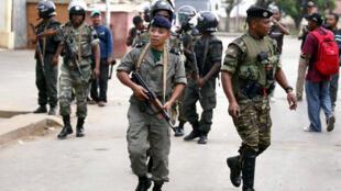 Des soldats en patrouille à Madagascar (image d'illustration).
